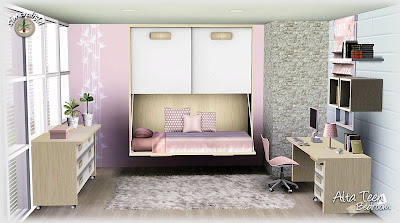 My sims 3 blog alta teen bedroom set by simcredible designs for Sims 3 master bedroom ideas