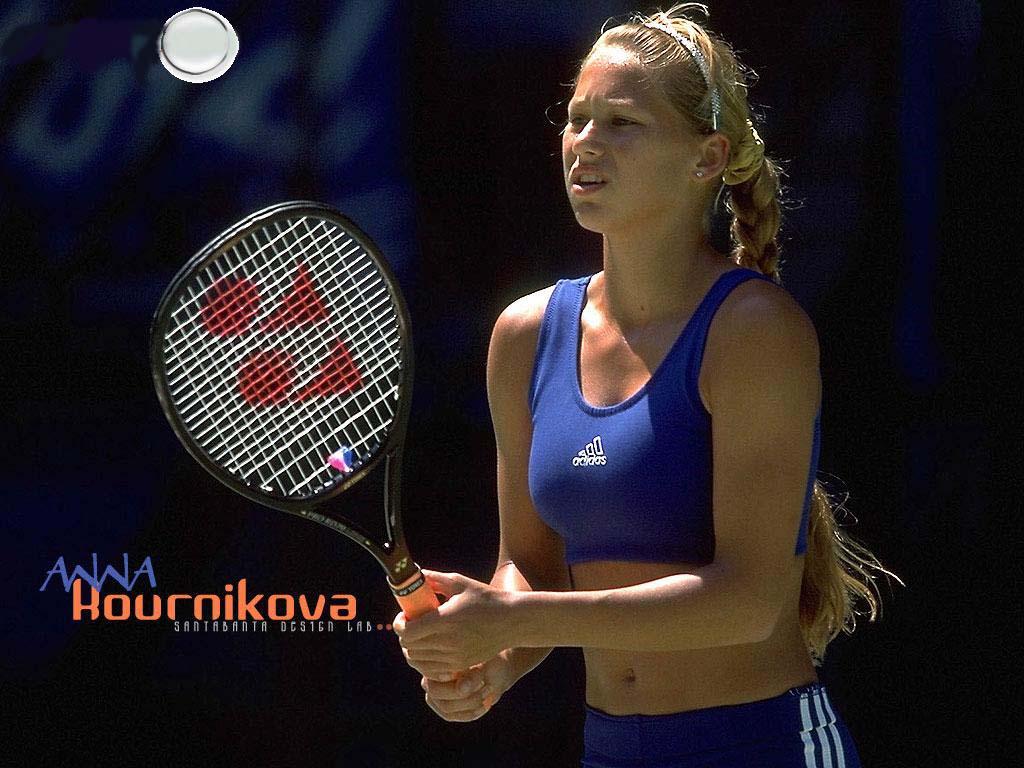 Anna Kournikova Wallpaper Dark Blue Hd Wallpapers Anna Kournikova