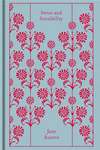 Book cover: Sense and Sensibility by Jane Austen Clothbound classics