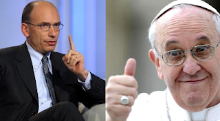 Papa Francesco e Enrico Letta foto