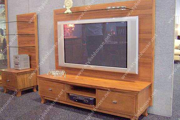 stylish Wooden plasma TV cabinet design
