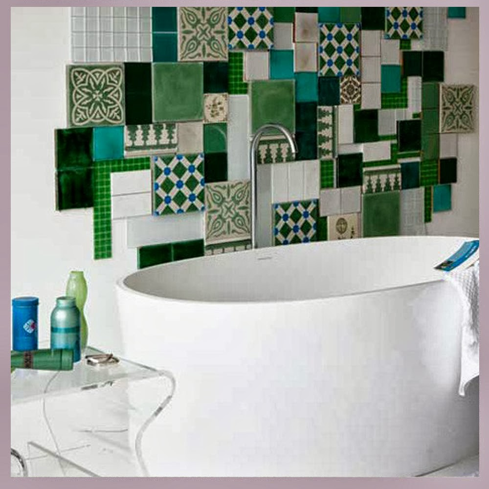 Awesome Green Mosaic Bathroom Tiles Frieze - Bathroom Design Ideas ...