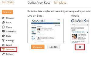 Pengunjung blog, cara seting blog mobile, menseting versi hp untuk blog, mobile blog