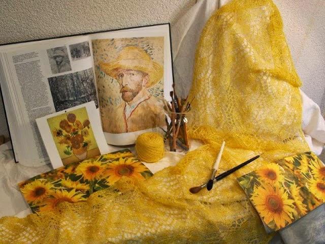 Geel als sjaal kleur  is ook niet lelijk!