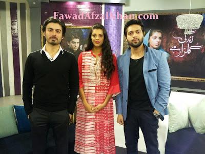 Fawad Khan, Sanam Saeed, Fahad Mustafa