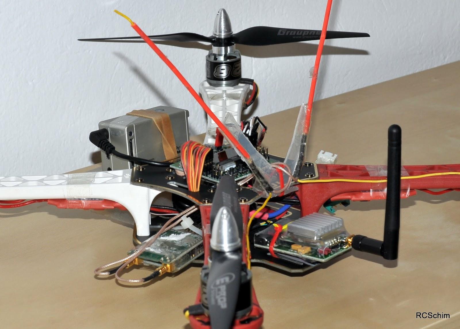 f450 dji flamewheel frame 50 kk2 controlboard hobbyking 30 4x 18amp turnigy plush escs 12 each 4x motors 15 each 2x graupner eprops 9x5 54 each