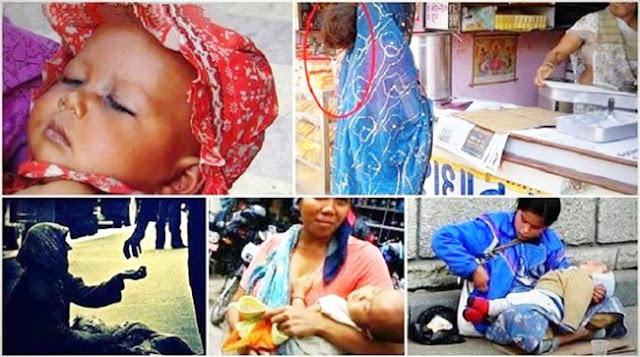 Tahukah Anda Mengapa Bayi yang Digendong Para Pengemis Tak Pernah Menangis?