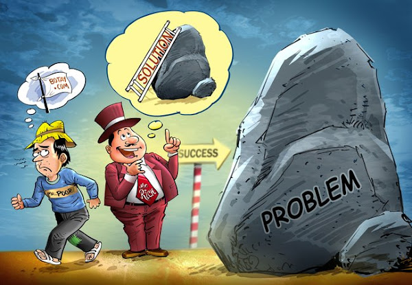 Rich people are bigger than their problems. Poor people are smaller than their problems.