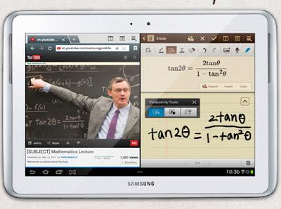 Samsung galxy note 10.1 pantalla dividida