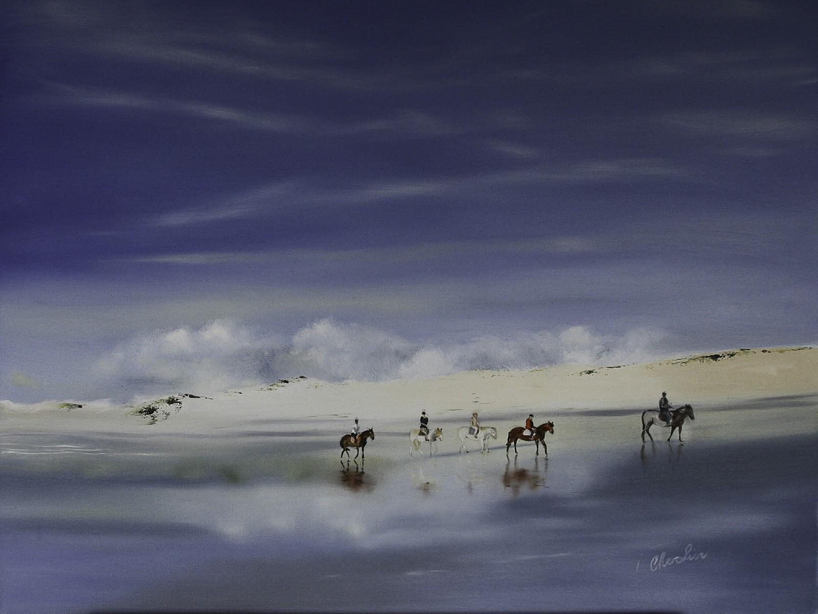 Isabelle chevalier peintures a l 39 huile pastels secs dessins - Photo de bord de mer ...