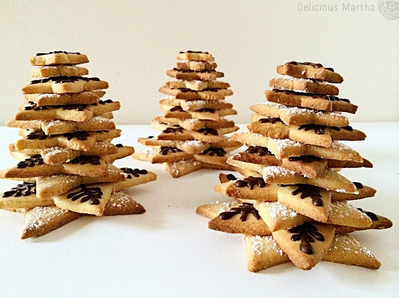Cookie Christmas Trees (Árboles de galleta)
