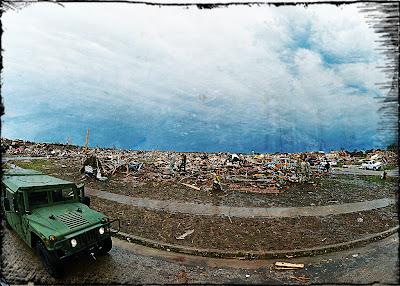 Storm debris in Moore, OK