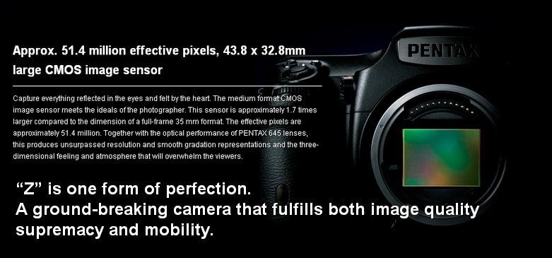 Kamera DSLR Medium Format Pentax 645Z