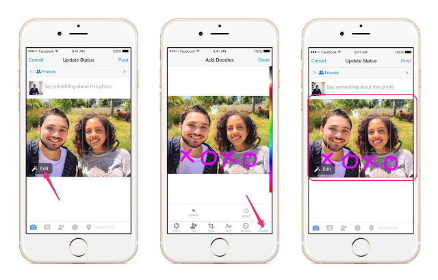 Bạn có thể vẽ lên hình ảnh trước khi upload hình lên Facebook