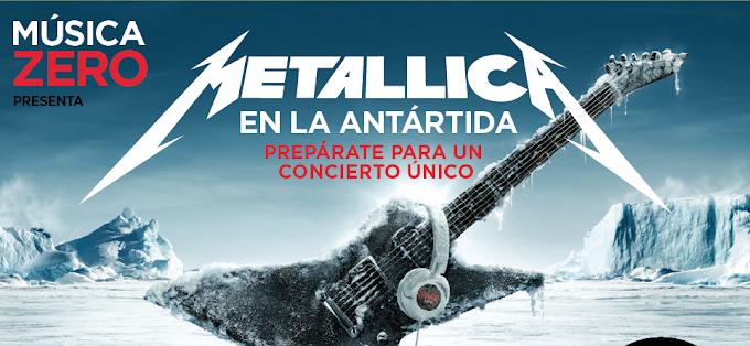 Metallica realiza inédito show en la Antártida, Rock and roll bajo cero