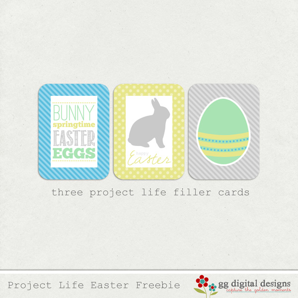 PROJECT LIFE EASTER FREEBIE