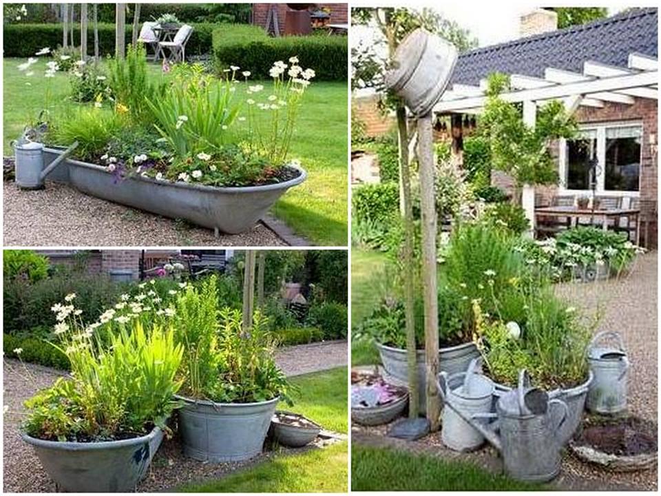 inspiração e diversão reciclagem no jardim