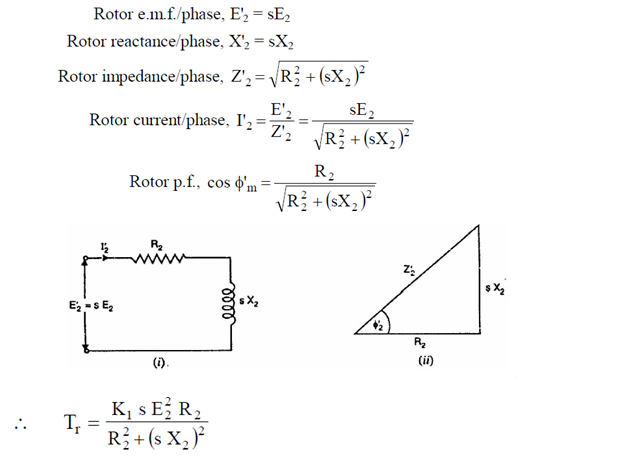 Derive Expression For Torque Under Running Condition For A
