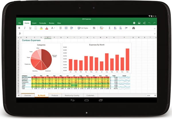Microsoft Office Word, Excel and PowerPoint comes to Android tablets