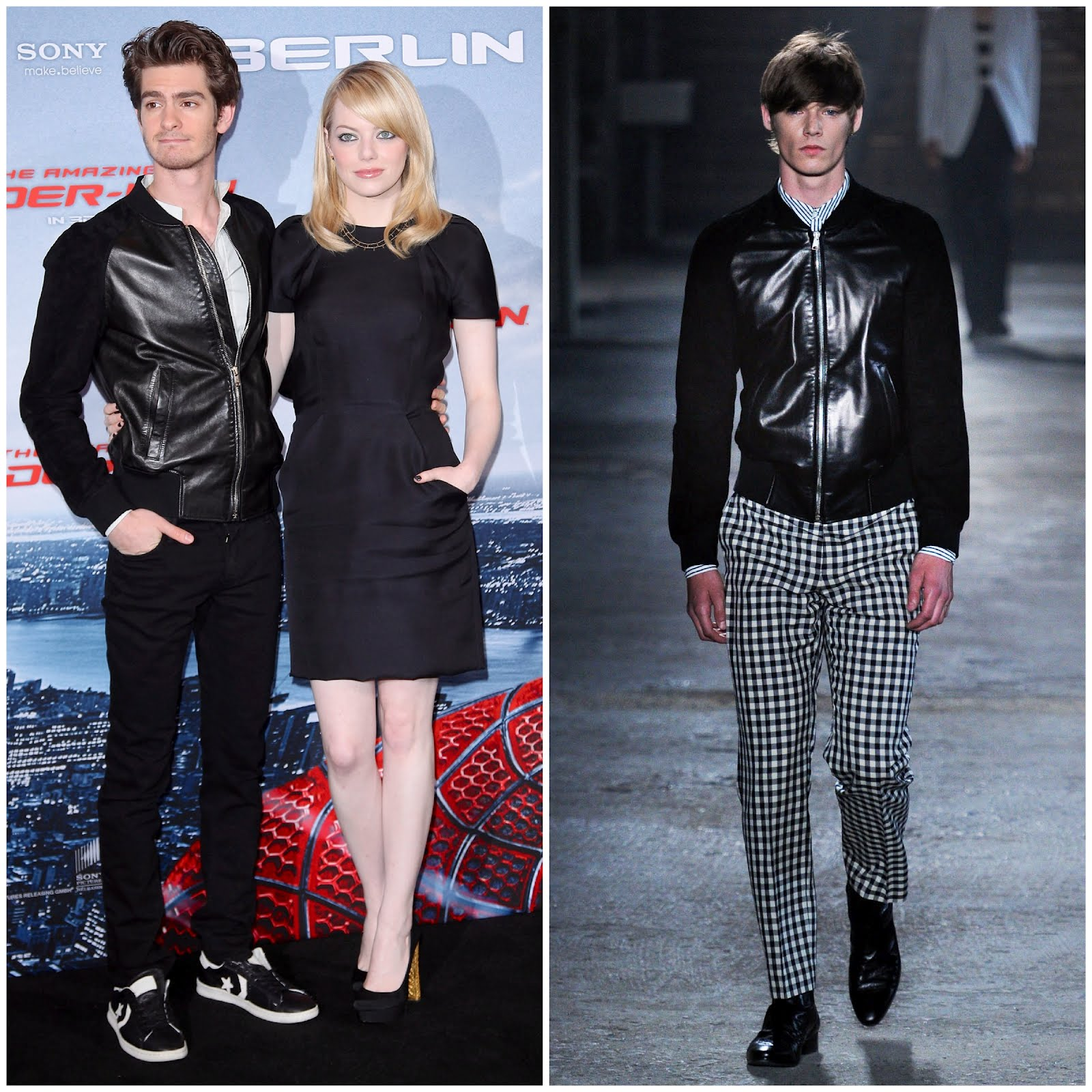 00o00 menswear london fashion style blog andrew garfield spiderman berlin alexander mcqueen leather jacket spring summer 2012 SS2012
