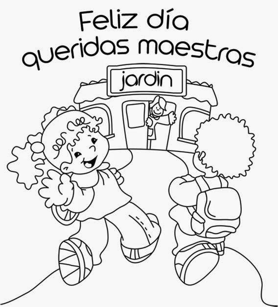 Dibujos para colorear - 15 de mayo Día del maestro