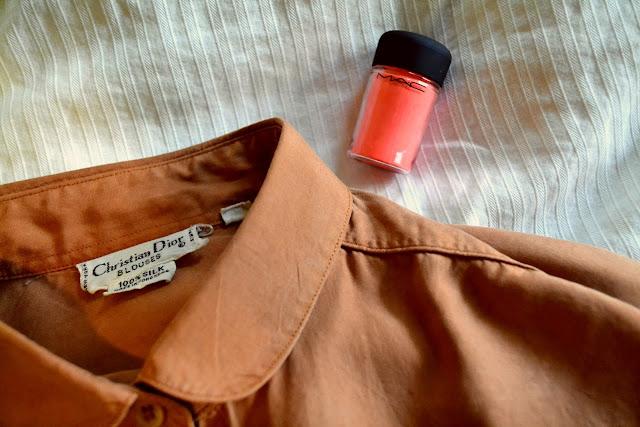 mac, pigment, neon coral, dior, vintage, spring 2013