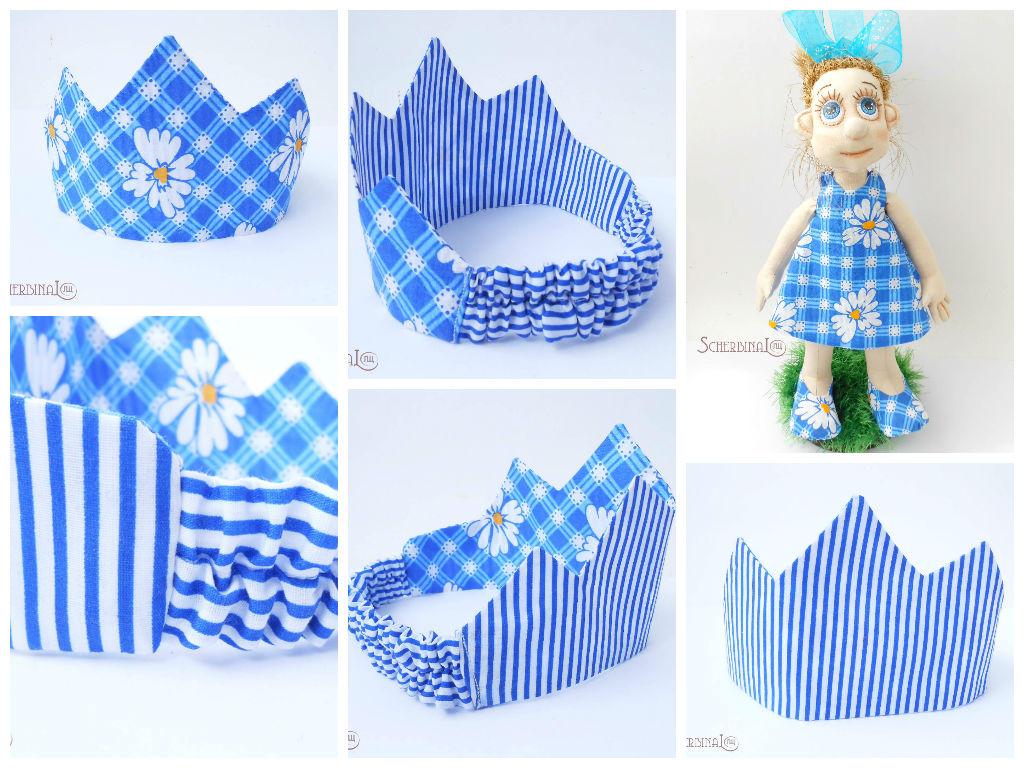 текстильная корона для девочки
