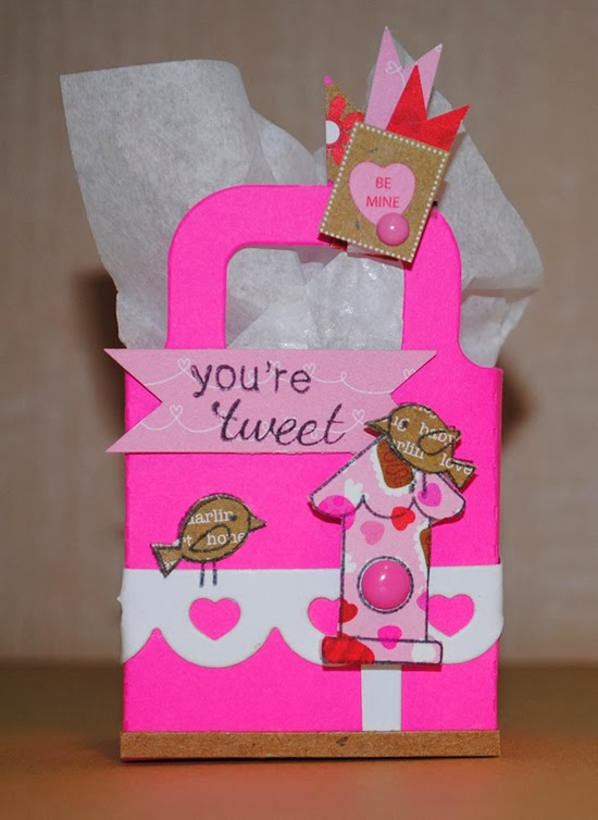 Tweet Talk gift bag by Chrissie Tobas for Newton's Nook Designs