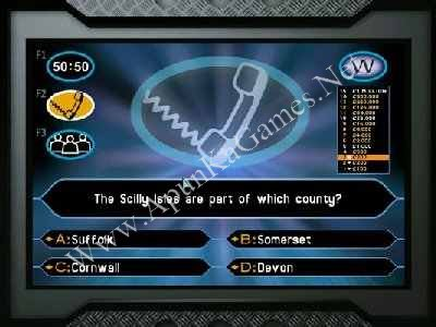 who wants to be a millionaire free game  for pc