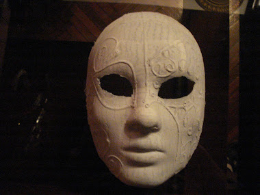 Plain Mask with Ornament, can be Painted or Just Plain