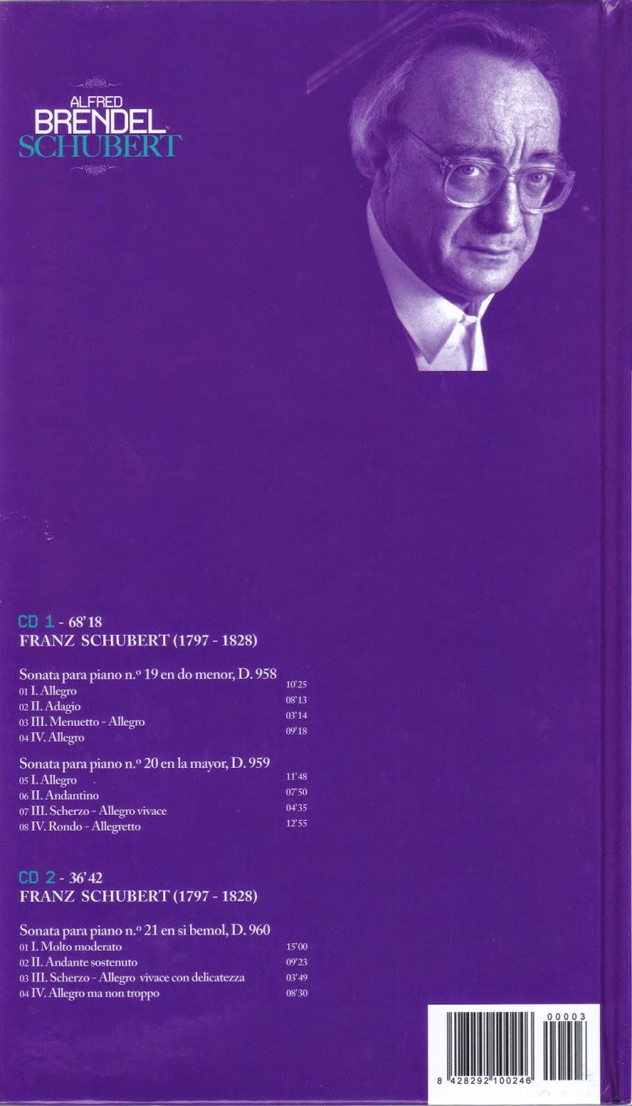 Imagen de Colección Los Genios del Piano-03-Alfred Brendel & Schubert-trasera