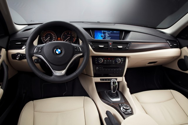 Interior shot of 2013 BMW X1