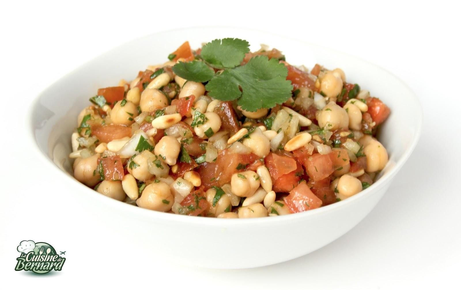 La cuisine de bernard salade de pois chiches for Cuisine de bernard