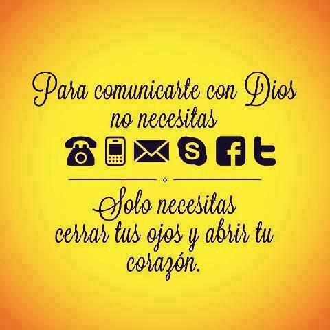 Para comunicarte con Dios