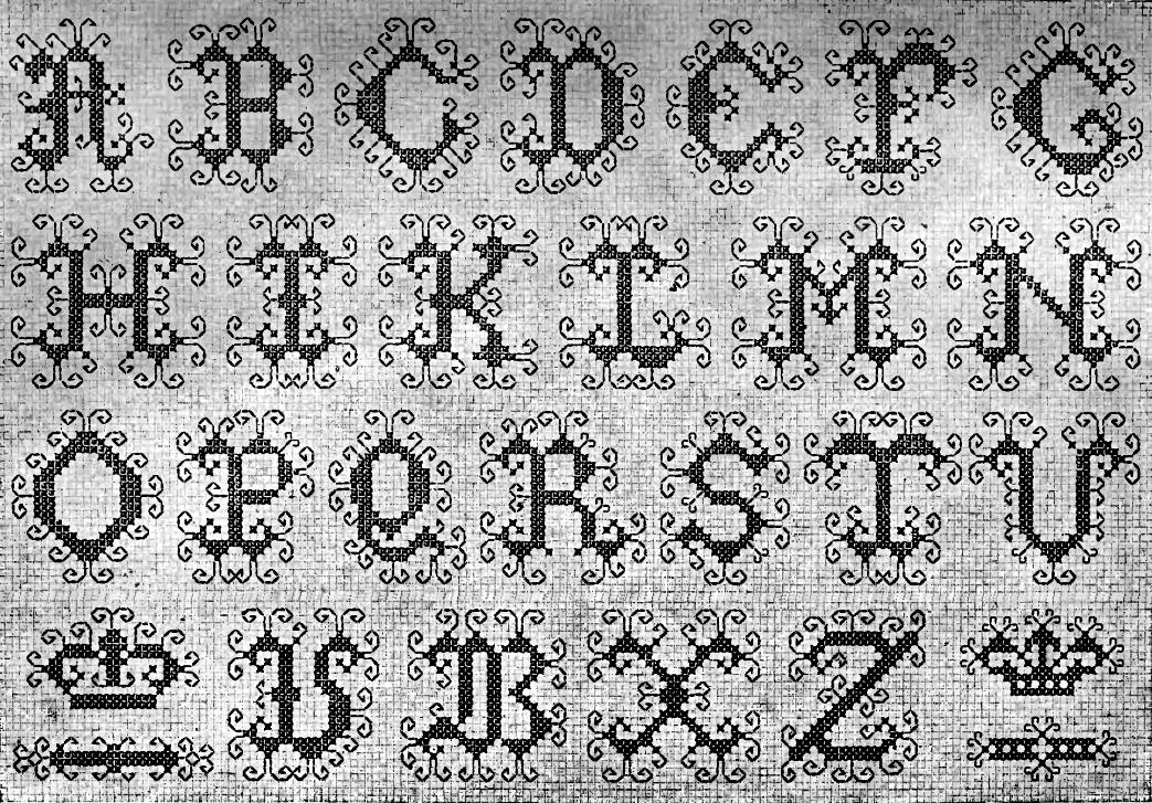 La bolsa de papel: Patrones clásicos de letras para punto de cruz