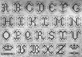 Alfabeto en punto de cruz