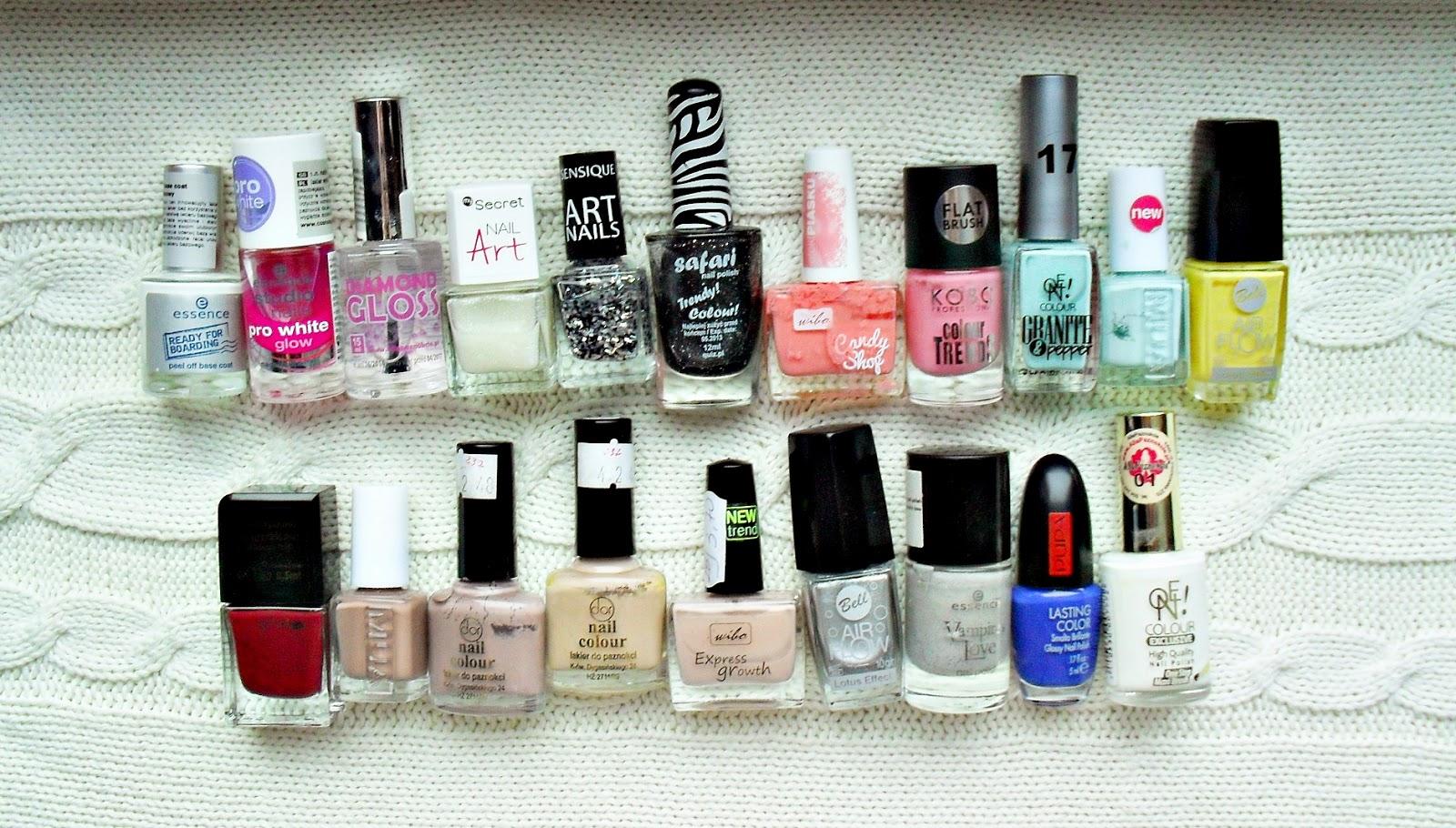 Zbiory kosmetyczne: LAKIERY