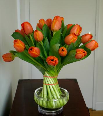 how to arrangement tulips