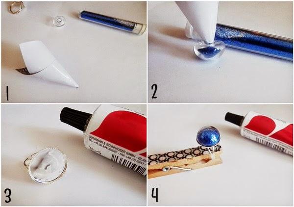 DIY : Une bague globe à paillettes