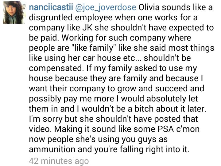 just kidding films joe and olivia dating