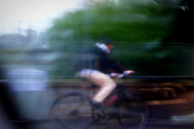 cyclist passing by