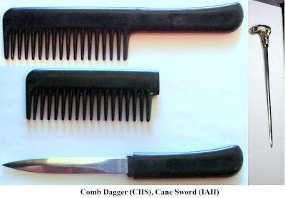 A 3¼-inch knife was detected concealed inside a comb in the carry-on bag at Charleston (CHS).