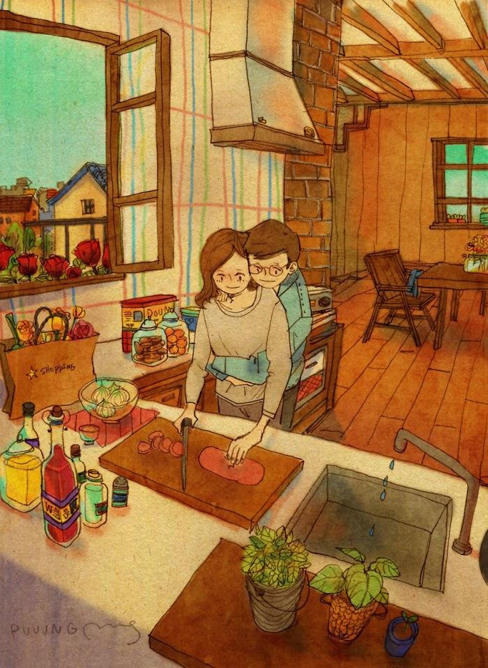 real love cute cartoons