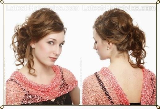 One Side Curly Hairstyles for Prom 2015