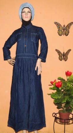 Grosir Gamis Bahan Jeans GJ1064
