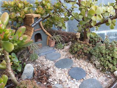 Aprendiz miniatura casita p jaros - Casitas en macetas ...