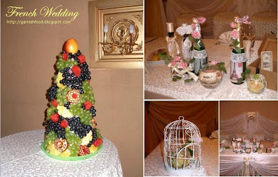 fruit tower for french wedding