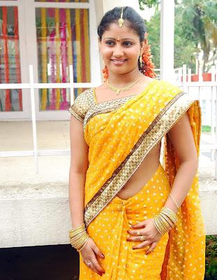 Actress Amrutha Valli In Hot Saree Photos Gallery