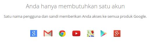 satu akun untuk semua layanan google