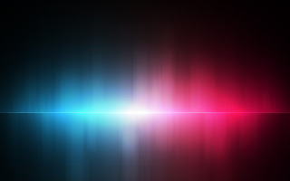 Illusion Abstract Blue Pink Red Aurora 3D Abstract HD Wallpaper